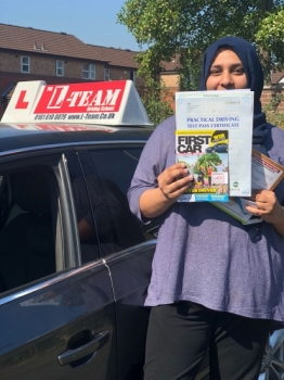 Congratulations to Faiza passing her driving test with L-Team driving school for the first time!! #passed#driving#learner🏆 #manchester#drivinglessons #help #learning #cars Call us now to get booked in on 0333 240 6430<br /> <br /> PASSED JULY 2018 🏆