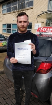 Congratulations to RYS passing his driving test with <br />