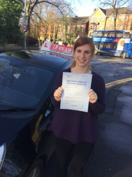 Congratulations to Sophia passing her driving test with<br />