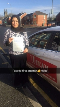 Congratulations to Heba passing her driving test with<br />