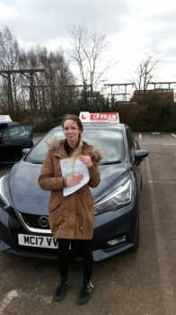 Congratulations to AMY passing her driving test with <br />