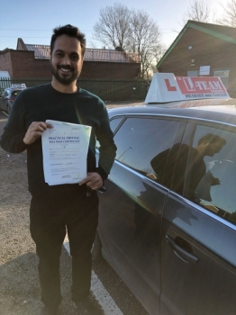 Congratulations to Usman passing his driving test with<br />