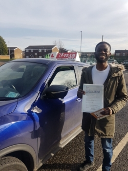 Congratulations to Philip passing his driving test with<br />
