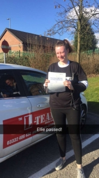 Congratulations to Ellie passing her driving test with <br />