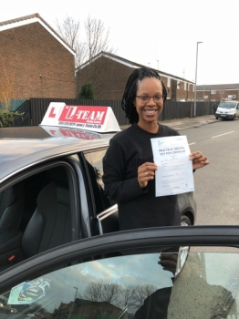 Congratulations to Jessica passing her driving test with<br />