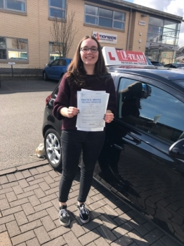 Congratulations to Jenny passing her driving test with <br />