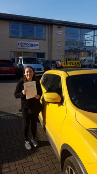 Congratulations to Magda passing her driving test with <br />