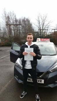 Congratulations to Dion passing his driving test with    <br />