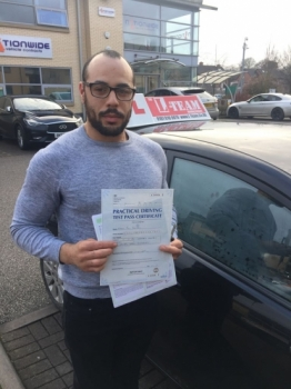 Congratulations to Samuel passing his driving test with <br />