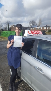 Congratulations to Mary passing her driving test with<br />