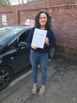 Congratulations to Kate passing his driving test with <br />