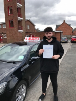 Congratulations to Miraidn passing his driving test with <br />