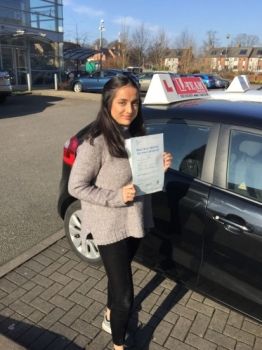 Congratulations to Aisa passing her driving test with<br />