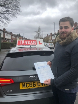 Congratulations to Asif passing his driving test with <br />