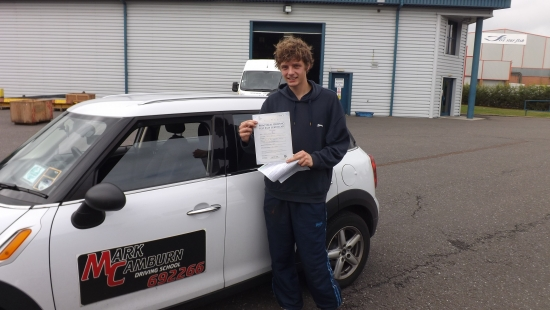 Well done Jack on your first time pass