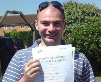 He has the patience of a saint and I would recommend him to anyone who is looking to pass their driving test first time!