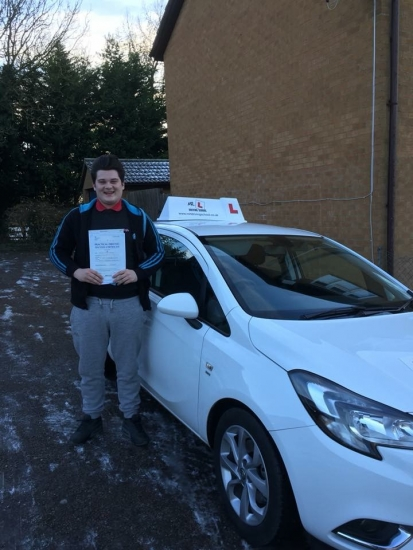 Congratulations to Brandon Shannon from Balsham who passed in Cambridge on the 12-12-17 after taking driving lessons with MRL Driving School Having failed a previous test using a different driving school we're pleased to say Brandon passed 1st time with us with only 2 minor faults