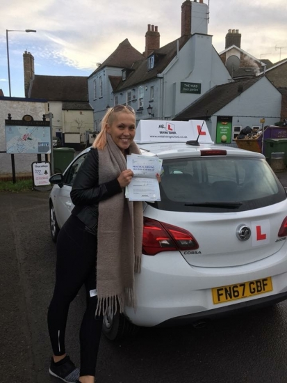 Congratulations to Nora from Dullingham who passed 1st time in Cambridge on the 19-12-18 after taking driving lessons with MRL Driving School