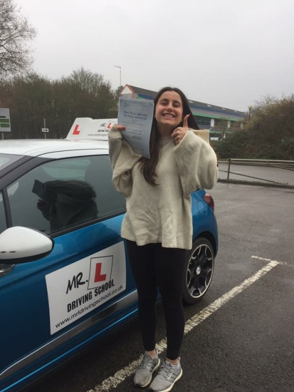 Congratulations to Amy Rosenburg from Ely who passed in Cambridge on the 8-2-17 with just 2 minor faults after taking driving lessons with MRL Driving School