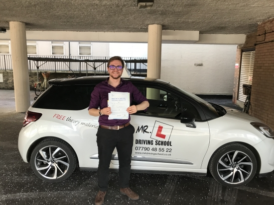 Congratulations to Guy from Ely who passed in Cambridge on the 16-2-18 after taking driving lessons with MRL Driving School