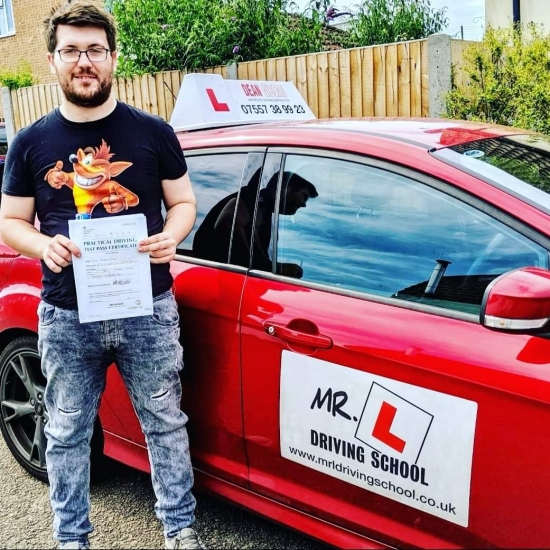 Congratulations to Tony Shaw from Chippenham who passed 1st time in Cambridge on the 24-7-19 after taking driving lessons with MR.L Driving School.