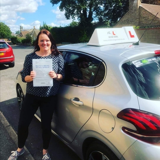 Congratulations to Allie from Soham who passed 1st time in Cambridge on the 2-9-19 after taking driving lessons with MR.L Driving School.