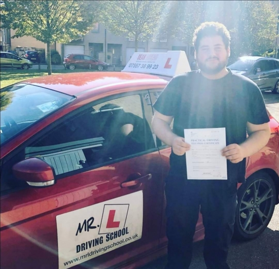 Congratulations to Jacob Suchorowski who passed in Cambridge on the 2-10-19 after taking driving lessons with MR.L Driving School.