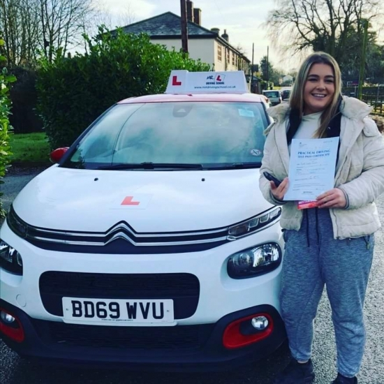 Congratulations to Pippa from Gazeley who passed in Cambridge on the 18-12-19 after taking driving lessons with MR.L Driving School.