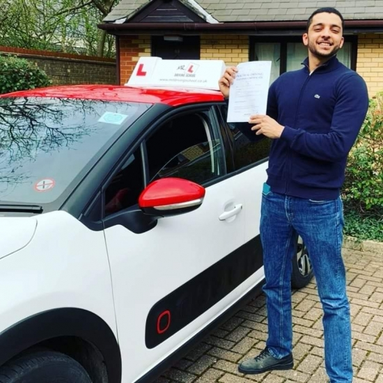 Congratulations to Yazan Abueida from Cambridge who passed on the 10-3-20 after taking driving lessons with #mrldrivingschool