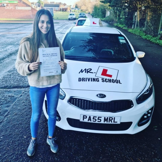 Congratulations to Jenny Pearce from Newmarket who passed her driving test 1st time in Cambridge on the 17-12-20 after taking driving lessons with MR.L Driving School.