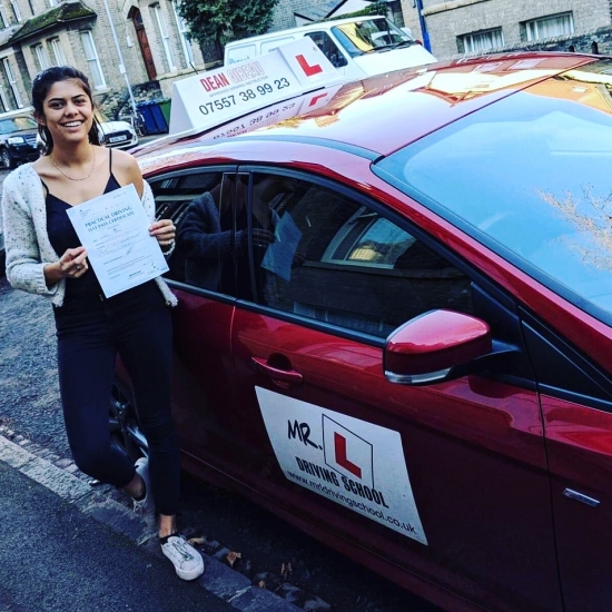 Congratulations to Tash Bashir who passed 1st time in Cambridge on the 11-2-19 after taking driving lessons with MR.L Driving School.