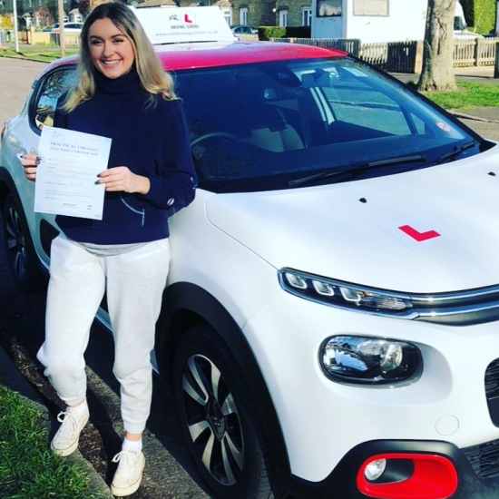 Congratulations to Leeanna from Cambridge who passed 1st time on the 3-2-20 with ZERO faults after taking driving lessons with #mrldrivingschool