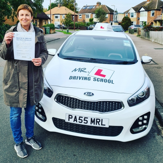 Congratulations to Paula Carey-Shulman from Cambridge who passed 1st time on the 30-9-20 after taking driving lessons with MR.L Driving School.