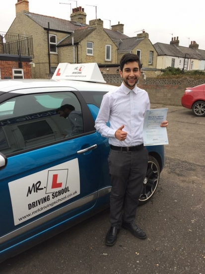 Congratulations to Dani Sanchez from Cambridge who passed on the 9-2-17 after taking driving lessons with MRL Driving School