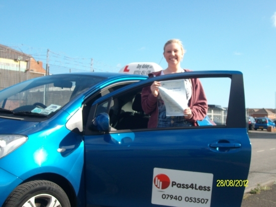 Congratulations on passing your driving test first at the first attempt Emma.<br /> Well done.<br /> Tony