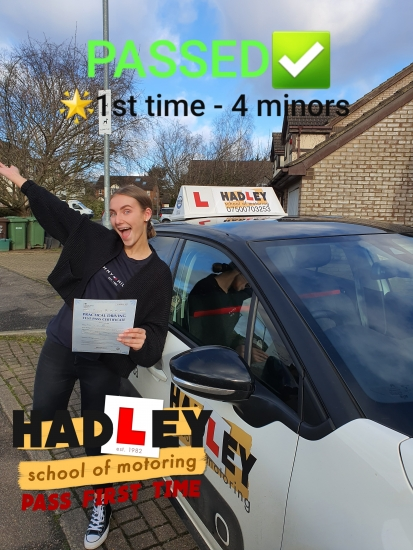 25/02/2020 - Would highly recommend Hadley School of Motoring. Paul is a great driving instructor. He made lessons enjoyable and is friendly, reliable and made me feel at ease. Paul is always positive and encouraging