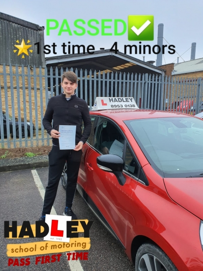 22/01/2020 - I really enjoyed learning to drive with Mike, he made things very easy and passed first time with 4 minors! Highly recommend