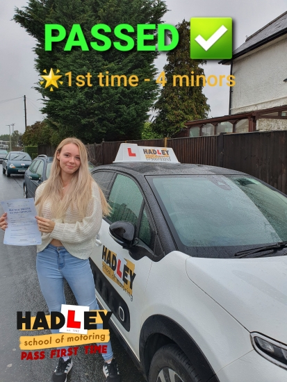 08/10/2020 - I went with Hadley School of Motoring as a recommendation, it´s relatively intimidating not knowing what the roads are like as a learner, I had Paul as my instructor and throughout my learning experience I can say he is hands down the best driving instructor around! He is calm and