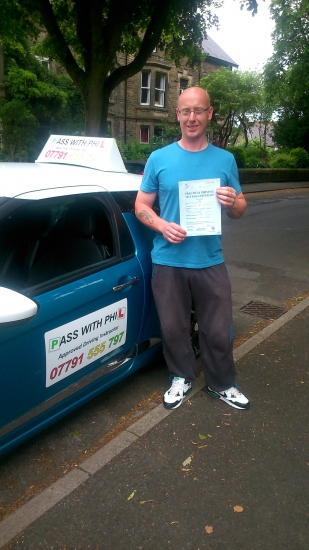 Massive congratulations to Adam from Glossop who passed his driving test today 25th June at the first attempt and with only 1 driver fault Amazing drive well done Its been a pleasure meeting you and i wish you all the best for the future Thanks again for using Pass With Phil Driving School Enjoy your independence and stay safe