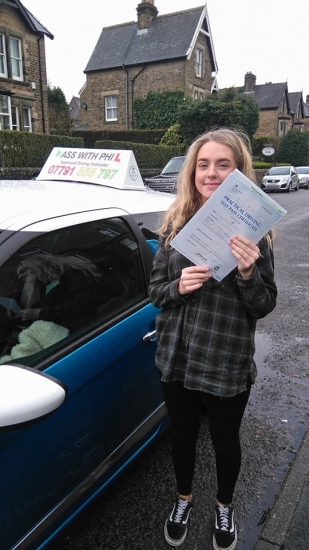 Yayyy another 1st time pass :<br /> <br /> Huge congratulations to Alex who passed her driving test today in Buxton27th Februaryat the first attempt and with only 7 driver faults Given that your first test had to be terminated by the examiner because someone ran into youthe other drivers fault and also today that you are very poorly youacute;ve done absolutely amazing<br /> <br /> Itacute;s been an absolute