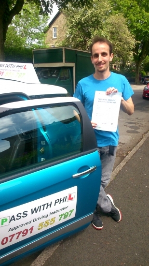 Well there goes another full licence holder Massive congratulations go to Ashley who passed his driving test in Buxton today 18th June at the first attempt and had only 1 driver fault Ashley is one of the exclusive group to have passed both theory and driving test first time Itacute;s been a pleasure meeting you and helping you achieve your goal Enjoy your independence and stay safe Take