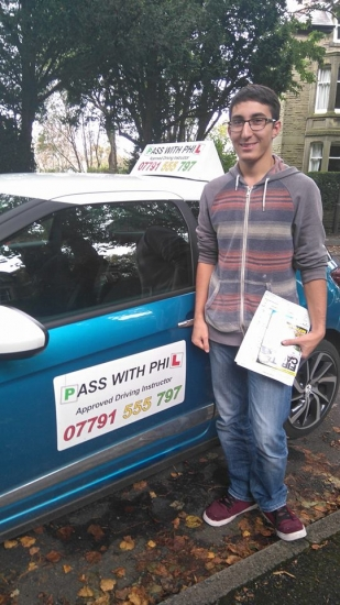 Huge congratulations to Danny after passing his driving test today in Buxton8th October and with only 3 driver faults Itacute;s been a pleasure taking you for lessons and helping you achieve your goal Enjoy your independence and stay safe