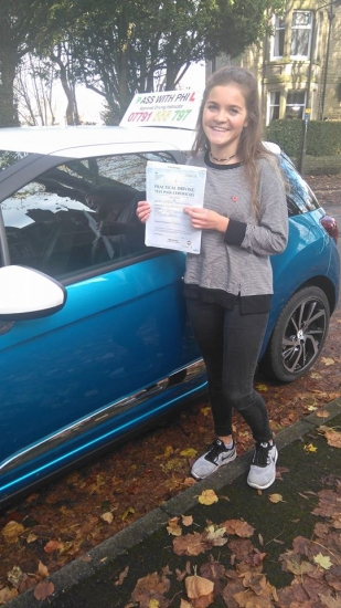 Huge congratulations to Eleanor who passed her driving test today in Buxton11th November at the first attempt and with only 3 driver faults She joins the exclusive club of passing both theory and practical tests first time Itacute;s been an absolute pleasure meeting you and taking you for lessons Enjoy your independence and stay safe