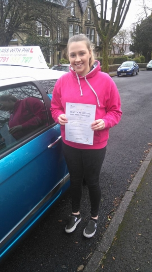Massive congratulations to Ella who has just passed her driving test in Buxton at the first attempt and with only 1 driver fault amazing drive well done<br /> <br /> Itacute;s been an absolute pleasure taking you for lessons and helping you achieve your goal Enjoy your independence and stay safe
