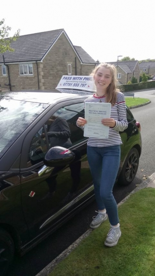 Huge congratulations go to Emma who passed her driving test today in Buxton 19th September A great drive and managed those nerves really well Itacute;s been an absolute pleasure taking you for lessons and helping you achieve your goal Enjoy your independence and stay safe