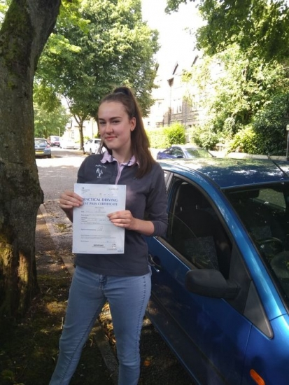Huge congratulations go to Holly on passing her driving test today in Buxton and with only 2 driver faults.<br /> This pass is dedicated to Paul Stubbs, one of our local instructors who sadly passed away from covid in January.<br /> Holly was learning with Paul and got in touch after his passing, and we managed to sort out some driving lessons to keep her ticking over till test.<br /> This one´s for you Pa