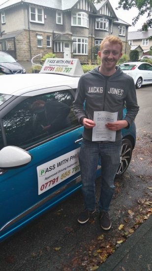 Huge congratulations to my son Jake on passing his driving test this morning in Buxton5th September and with only 2 driver faults Finally overcame the nerves and panic to hold it together and have a really good drive And as I say to all those that pass<br />