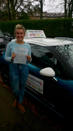 Huge congratulations go to Jasmin who passed her driving test this morning in Buxton 27th October A great drive well done It has been an absolute pleasure meeting you and helping you learn to drive Enjoy your independence and stay safe Look forward to receiving a photo of you with your new car : Take care