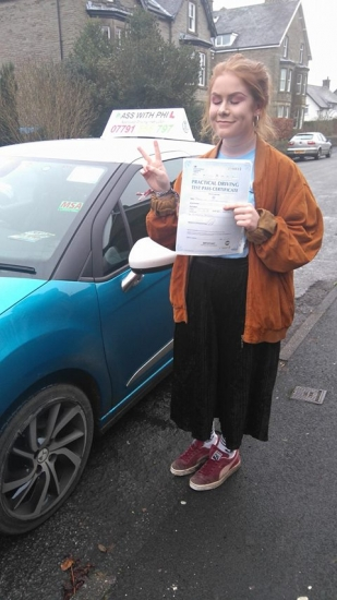 Massive congratulations to Jess who passed her driving test today at the first attempt and with only 7 driver faults She joins the exclusive club of passing both theory and practical tests first time Itacute;s been an absolute pleasure taking you for lessons Enjoy your independence and stay safe