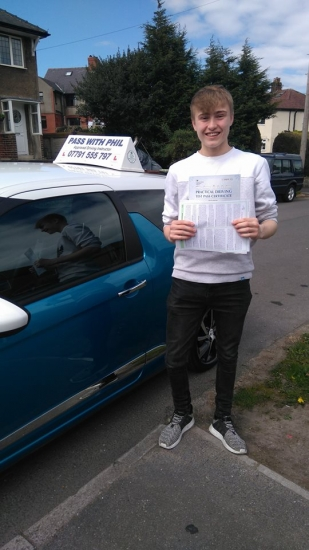 Huge congratulations to Joe who passed his driving test today in Buxton3rd April and with only 4 driver faults a great drive well done Itacute;s been an absolute pleasure taking you for lessons enjoy your independence and stay safe